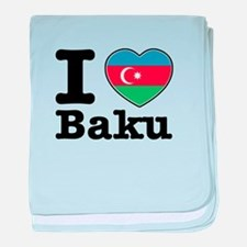 I love Baku baby blanket