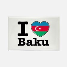 I love Baku Rectangle Magnet