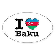 I love Baku Decal