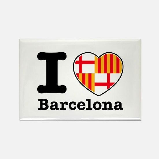 I love Barcelona Rectangle Magnet