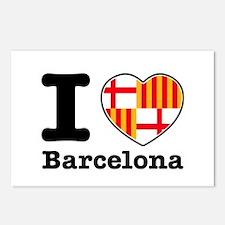 I love Barcelona Postcards (Package of 8)