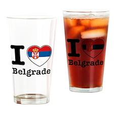 I love Belgrade Drinking Glass