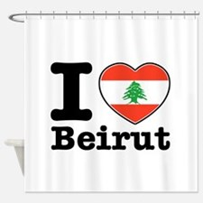 I love Beirut Shower Curtain