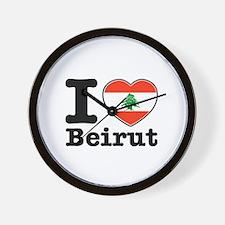 I love Beirut Wall Clock