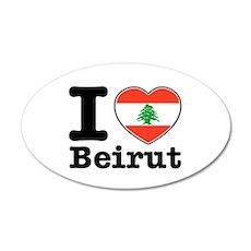I love Beirut 22x14 Oval Wall Peel