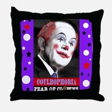 Coulrophobia Fear of Clowns Throw Pillow