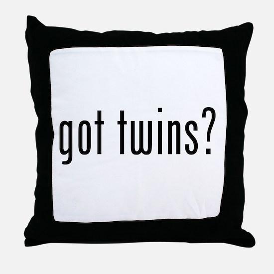 Got twins? Throw Pillow