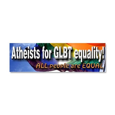 Atheists for LGBT Car Magnet 10 x 3