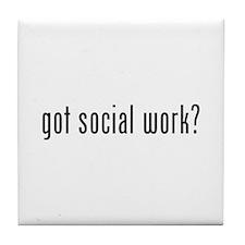 Got social work? Tile Coaster