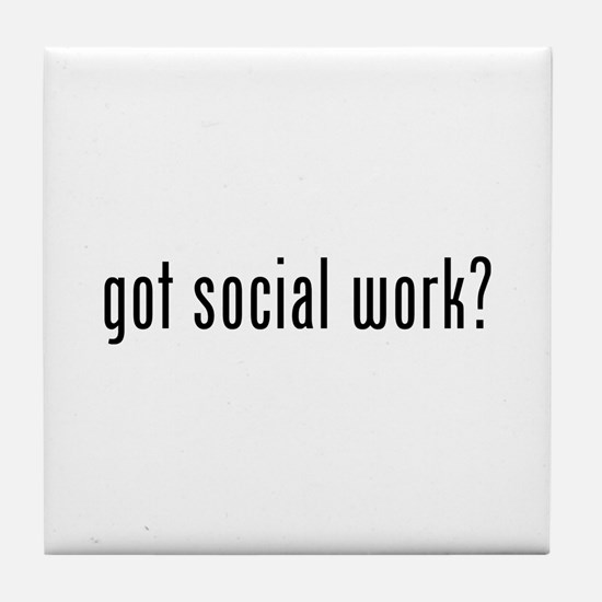 Got social work? Tile Coaster