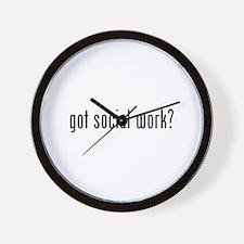 Got social work? Wall Clock