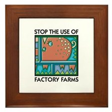 Stop the Use of Factory Farms Framed Tile