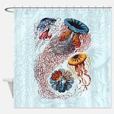 Ernst Haeckel Jellyfish Shower Curtain