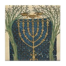Cervera Menorah Tile Coaster