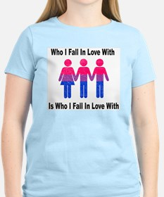 Who I Fall In Love With 2 Women's Pink T-Shirt