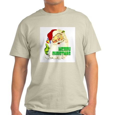 Merry Christmas Santa Ash Grey T-Shirt