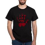 center-blck/red T-Shirt