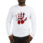 center-blck/red Long Sleeve T-Shirt
