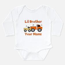 Little Brother Truck Long Sleeve Infant Bodysuit