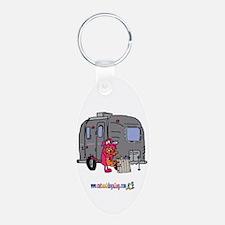 trailer trash by tamara warre Keychains
