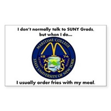SUNY French Fries Decal