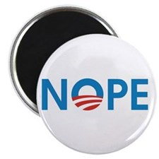 "Cute Obama nope 2.25"" Magnet (100 pack)"