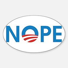 Cute Obama nope Sticker (Oval)
