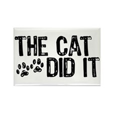 The Cat Did It Rectangle Magnet (10 pack)