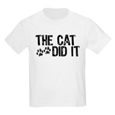 The Cat Did It Kids T-Shirt