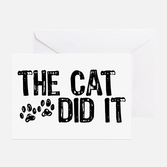 The Cat Did It Greeting Cards (Pk of 10)