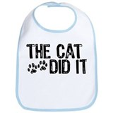 Cat Cotton Bibs