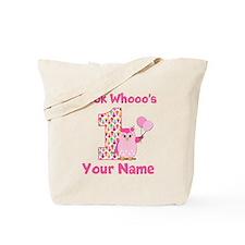 1st Birthday Girl Owl Tote Bag