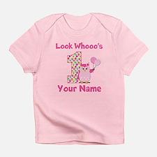 1st Birthday Girl Owl Infant T-Shirt