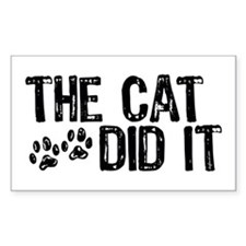 The Cat Did It Rectangle Decal