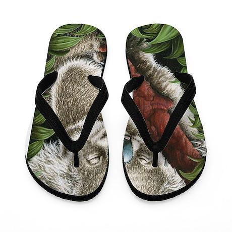 Sleeping Koala Flip Flops