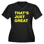 That's Just Great Women's Plus Size V-Neck Dark T-