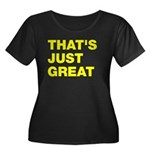 That's Just Great Women's Plus Size Scoop Neck Dar