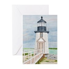 Evening Light at Brant Point Greeting Cards (Pk of