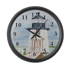 Evening Light at Brant Point Large Wall Clock