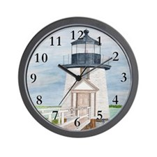 Evening Light at Brant Point Wall Clock