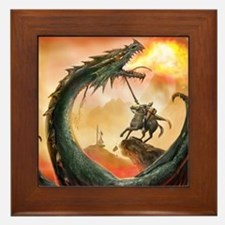 Saint George and the Dragon Framed Tile