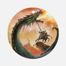 Saint George and the Dragon Ornament (Round)