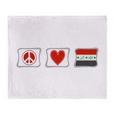 Peace, Love and Iraq Throw Blanket