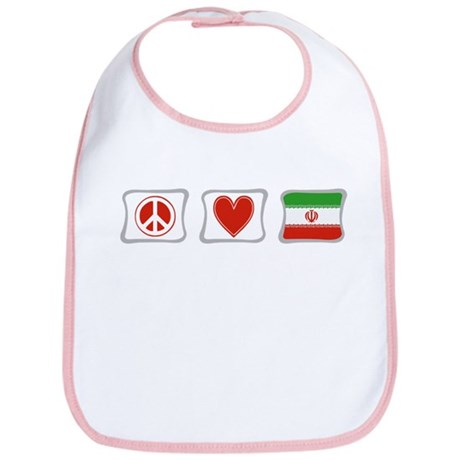 Peace, Love and Iran Bib