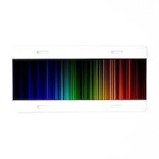 Spectrometer Aluminum License Plate