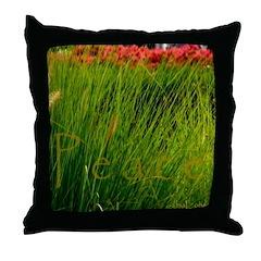 Peace in the Garden Tile Coaster Throw Pillow