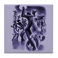 Miguel Covarrubias Dancers Art Tile Coaster