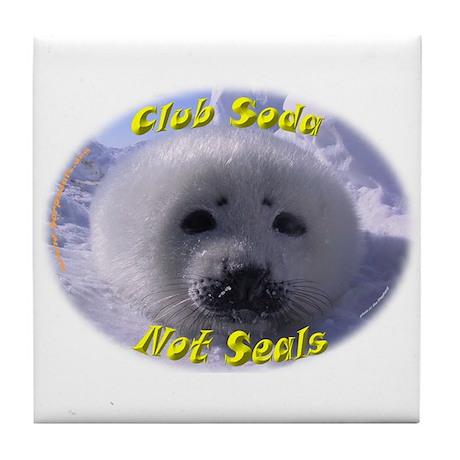 Club Soda, not Seals Tile Coaster