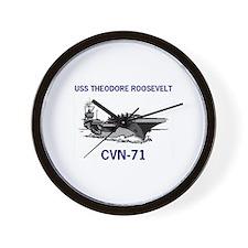 USS THEODORE ROOSEVELT Wall Clock