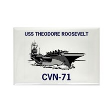 USS THEODORE ROOSEVELT Rectangle Magnet (10 pack)